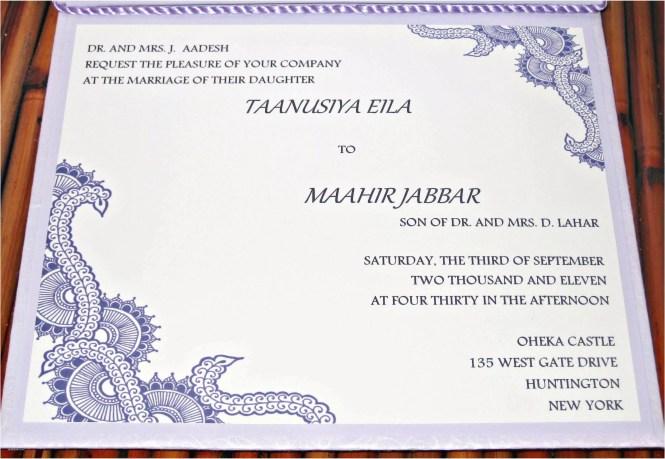 Samples Of Wedding Invitations Invitation Sample Card New