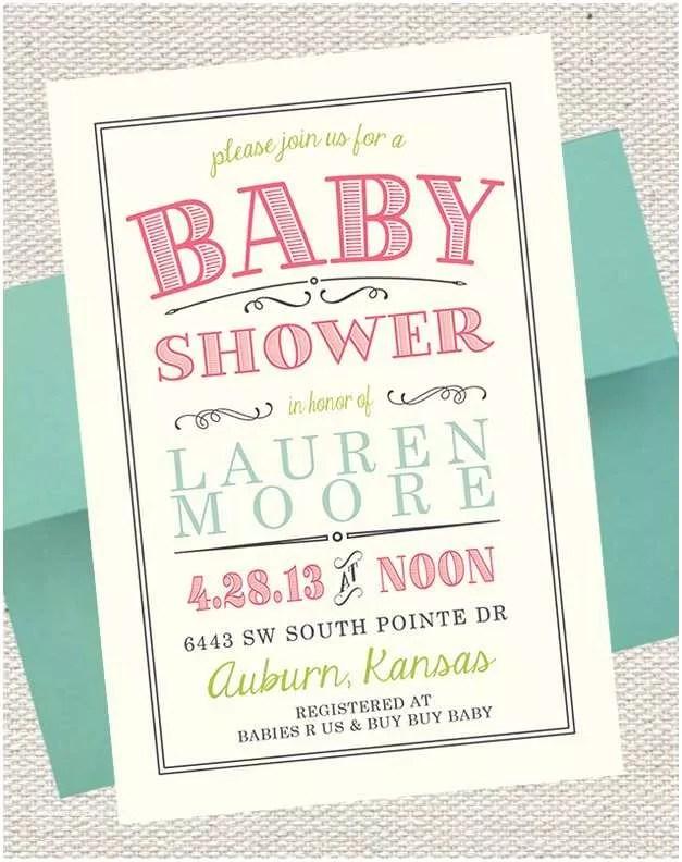 Scroll Baby Shower Invitations Princess