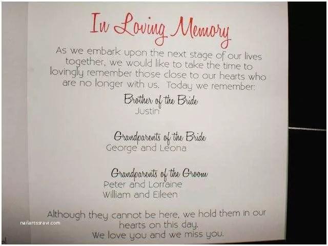 Wedding Invite Deceased Pa