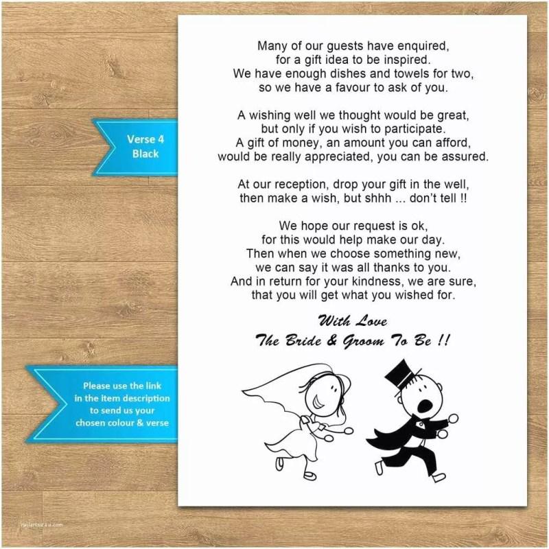 Wedding Invitation Wording Examples Asking For Money