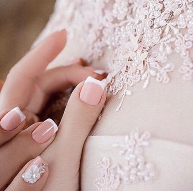 Свадебный маникюр для стильной невесты 2021 - 149
