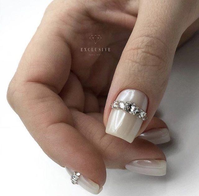 Свадебный маникюр для стильной невесты 2021 - 15