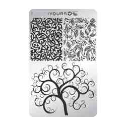 YOURS Stamping Plates Twisted Garden 8719324059282