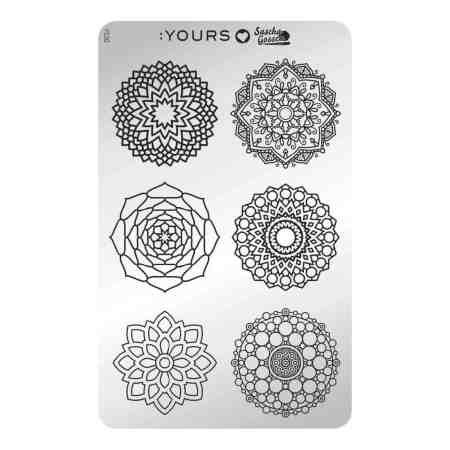 YOURS Stamping Plates  Mandala Mania 8719324059770