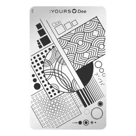 YOURS Stamping Plates Square 8719324059862