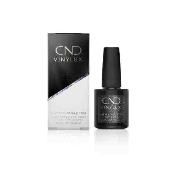 cnd vinylux glitter top coat