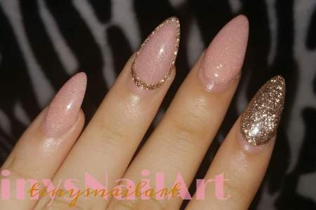Rose Gold Matte Acrylic Nails Hd Images Wallpaper For Downloads