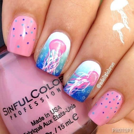 Cute Beach Nail Designs