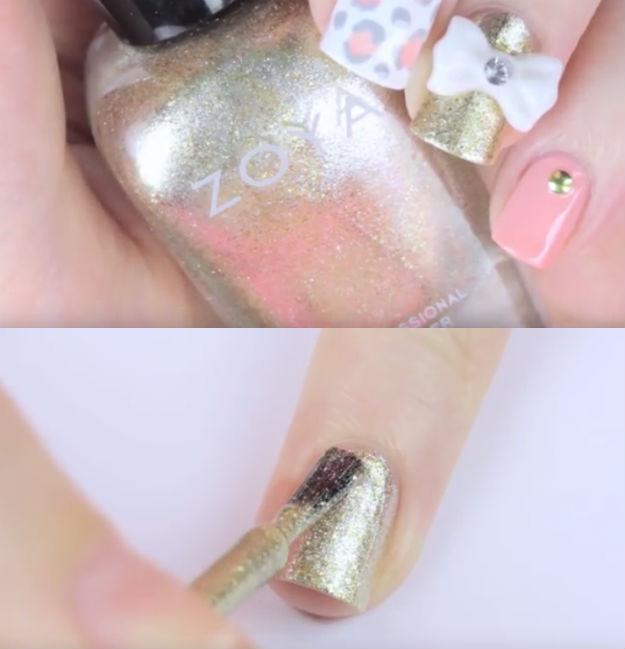 Step 3 3d Nails Cute Bow Nail Art Tutorial