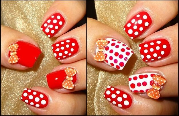 Polka Dotty Red And White Nail Art Designs To Try On Valentine S Day