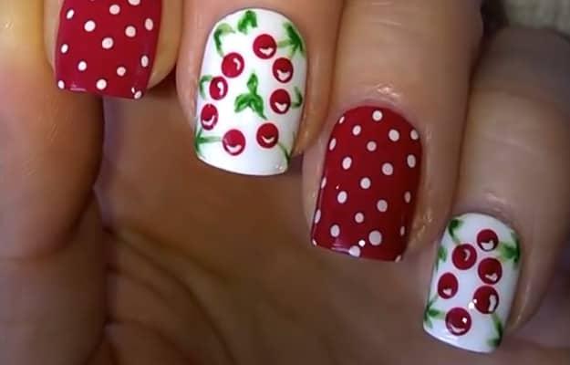 Cherry Amazing Fruit Nail Art Tutorials You Can Diy