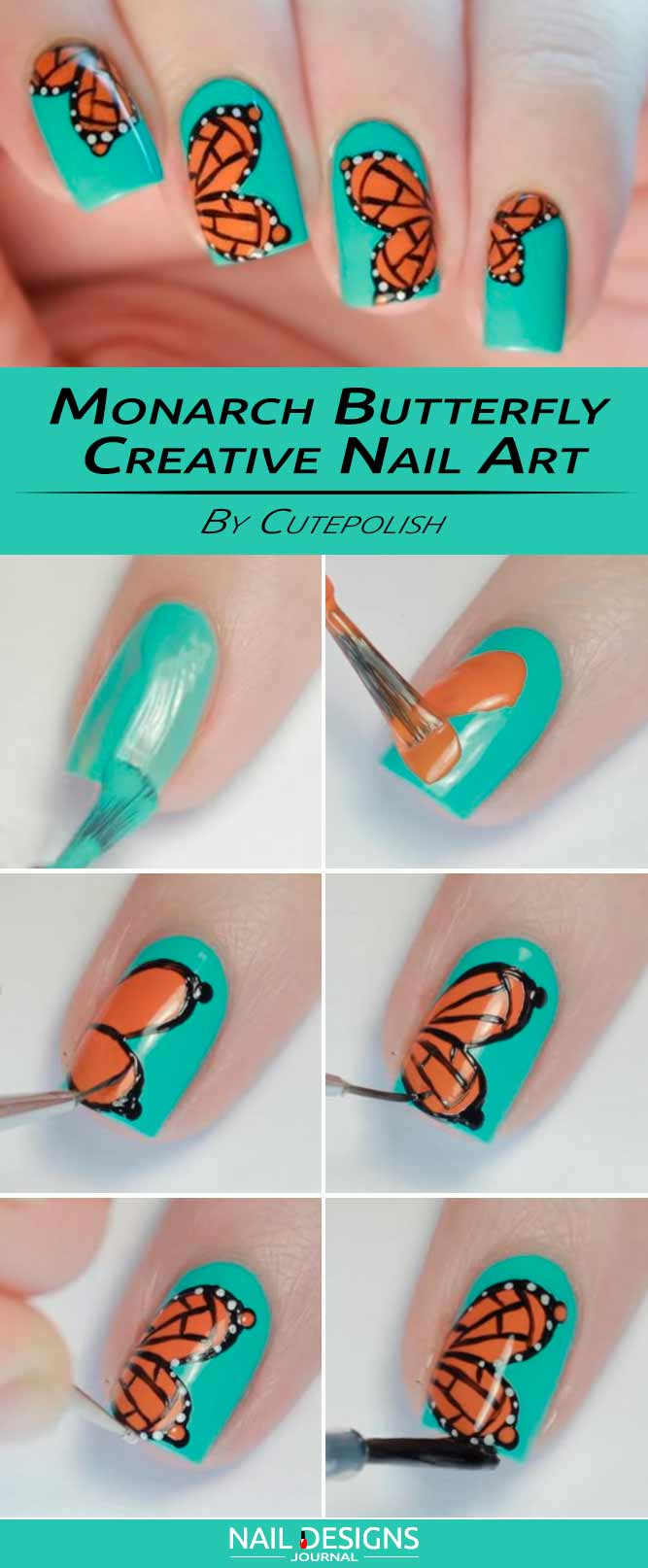 Monarch Erfly Creative Nails Art