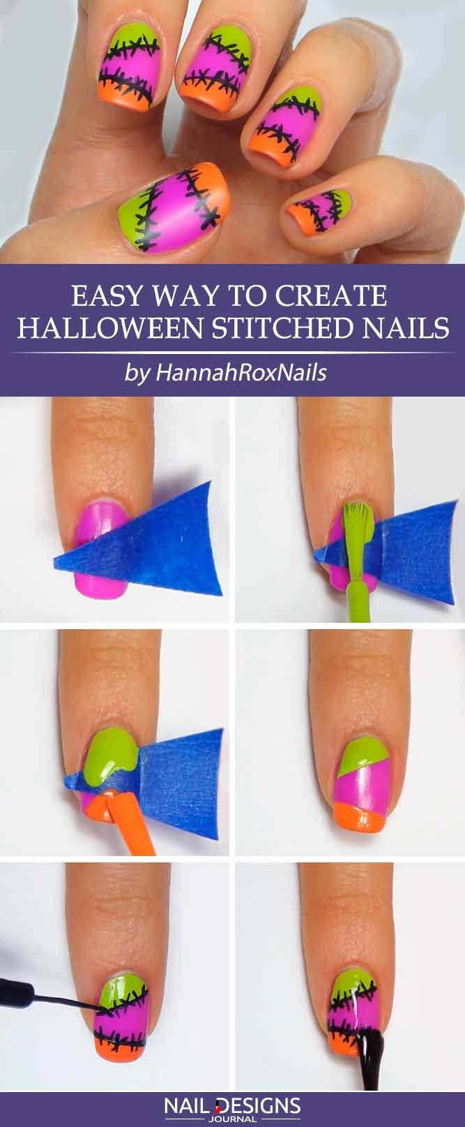Easy Way To Create Stiched Nails