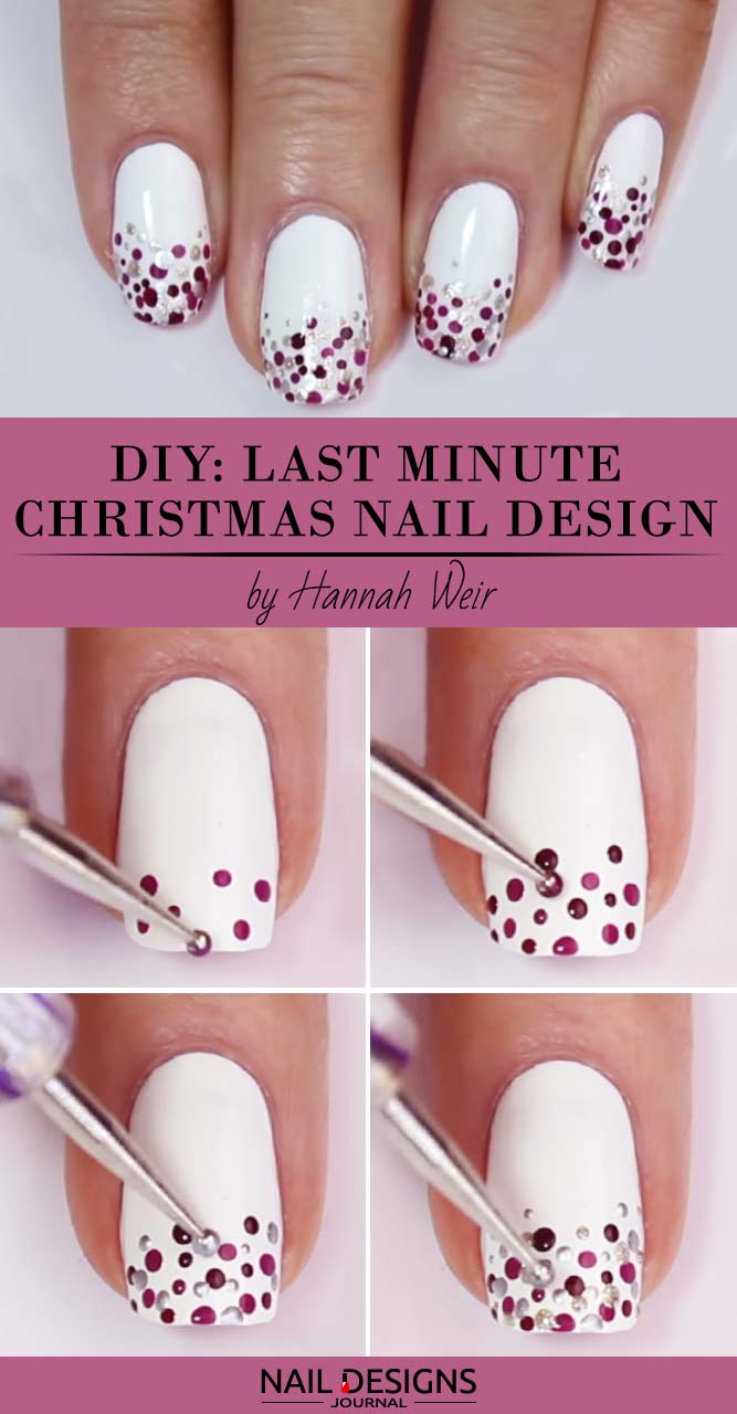10 Charming Christmas Nail Art Tutorials Youll Adore Crazyforus