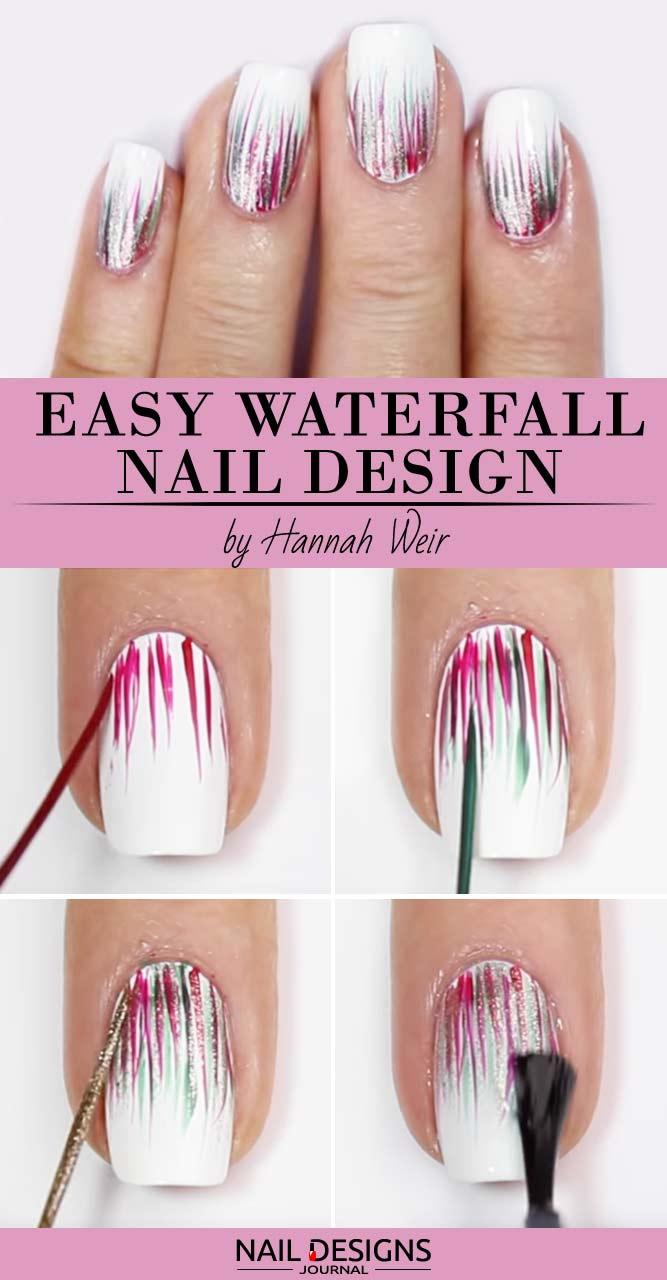 Easy DIY: Waterfall Nail Design