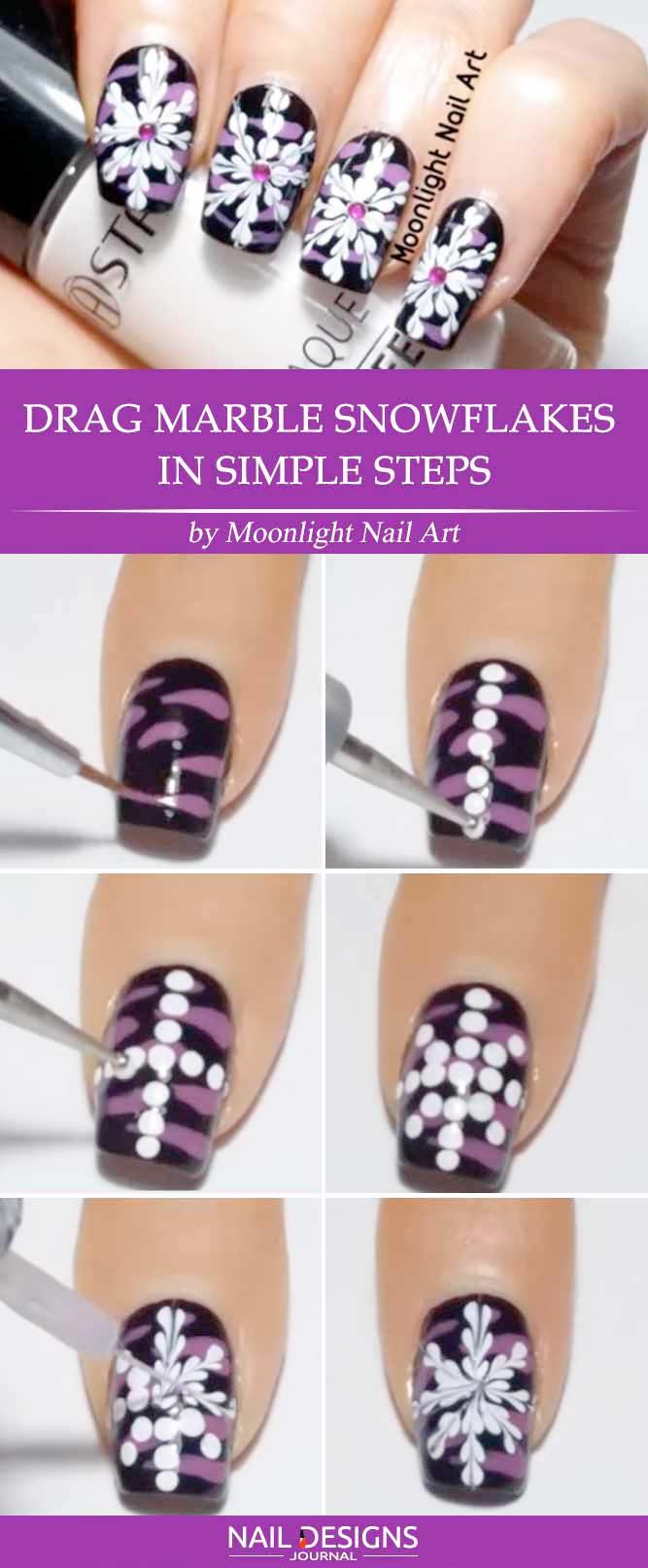 7 Tutorials On Snowflake Nails Designs Crazyforus