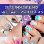 Cute And Easy Water Marble Nails Looks Naildesignsjournal Com