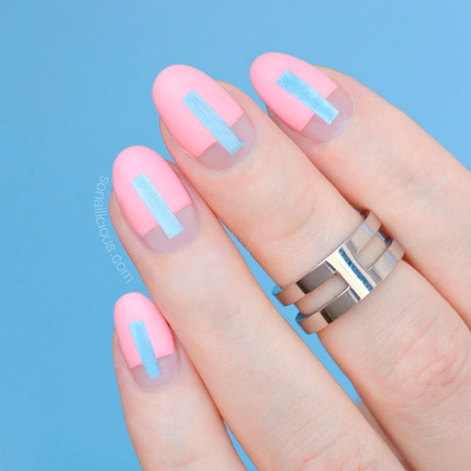 Gentle Pale Pink Nails