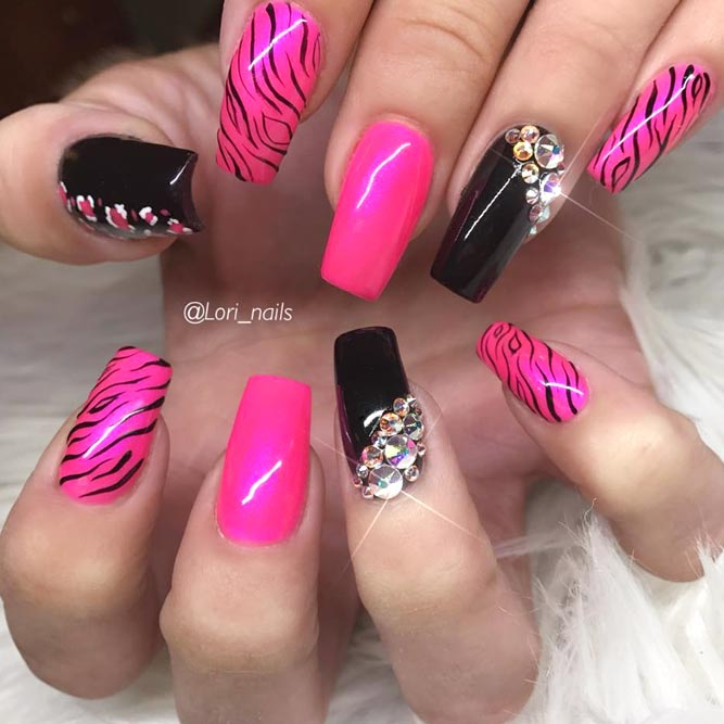 Zebra Print Nails To Let Your Inner Animal Out
