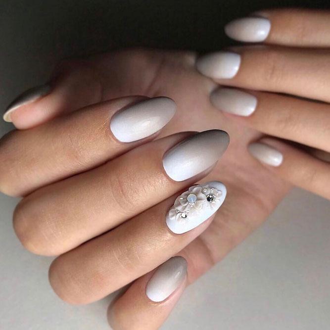 Taupe Mani رائعتين باللكنة الزهرية # longnails #mattenails # floralnails #flowernails