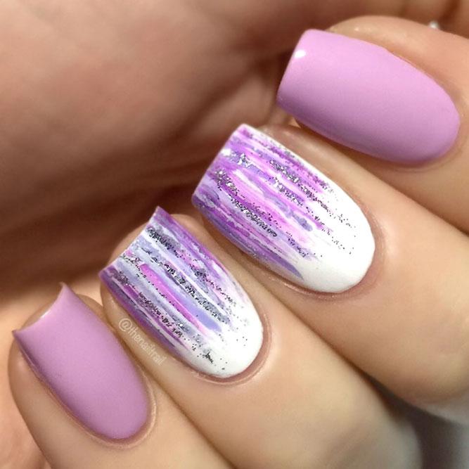 Lilac Waterfall Nails
