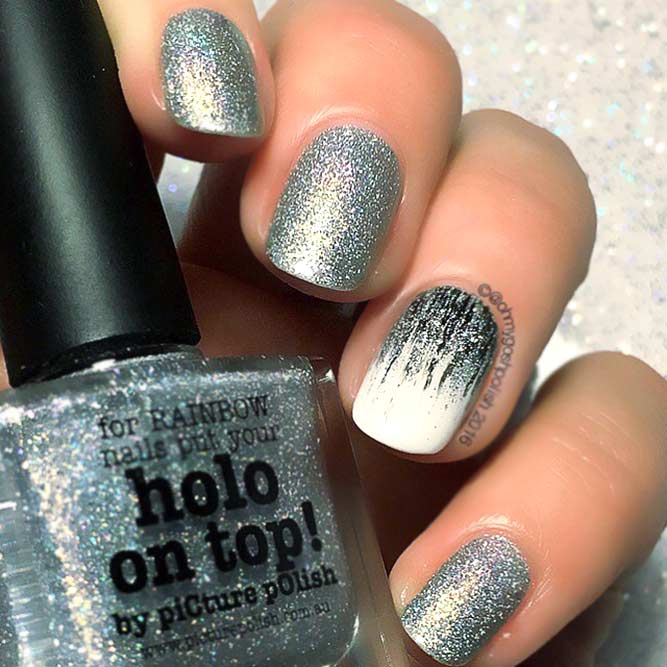 Magnificent Glitter Waterfall Nails