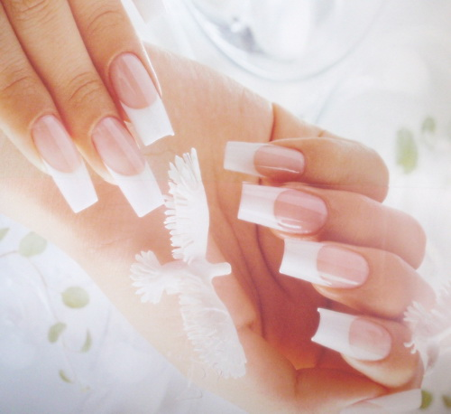 French Natural Nail White Tip Designs