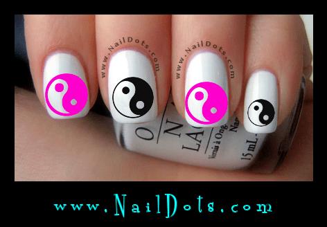 Yin Yang Nail Decals