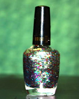Milani Gems is one of my favorite glitter topcoat to save a manicure from being to plain.