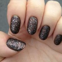 Julep Black Multi-color glitter