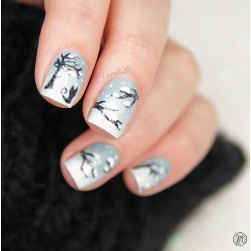 Snow Nails Nail Art By Paulina Nailpolis Museum Of