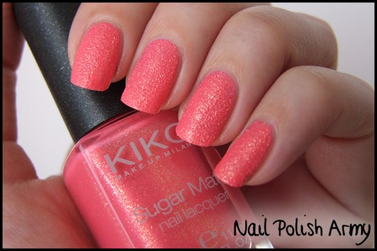 Kiko-sugar-mat-641-rosa-fragola-strawberry-pink-effetto-sabbia