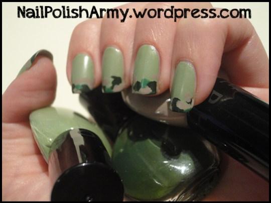 Nail-art-verde-militare-mimetico-sephora-jungle-playground