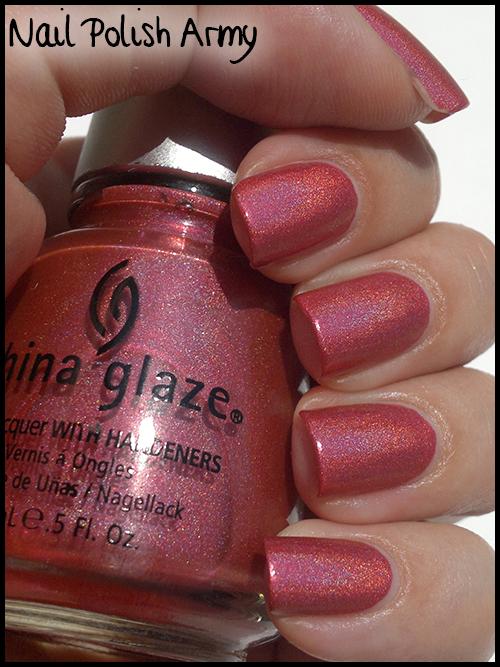 China Glaze TMI (643 80808), pink linear holographic