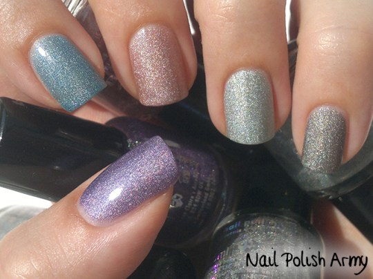 Claire's holographic nail polish set 32903