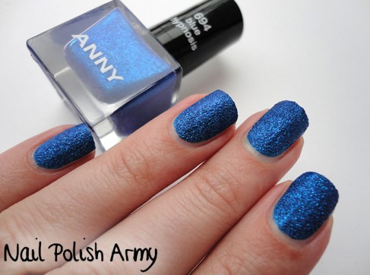 Anny 694 Blue hypnosis, LE desert glam las vegas show stars, blue sand effect nail polish