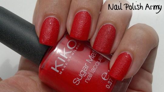 Kiko-Sugar-Mat-632-Rosso-True-Red-swatch-sand-effect-nail-polish-smalto-effetto-sabbia