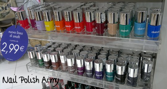 New Claire's Nail Polish line nuovo packaging smalti 2013