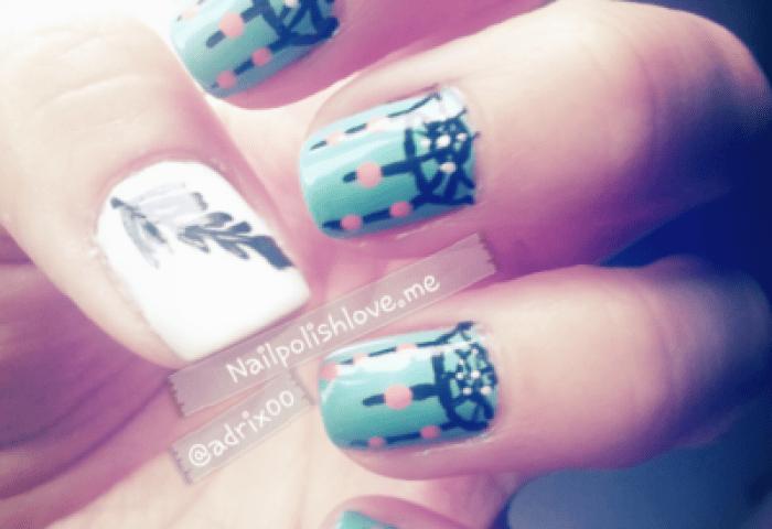 Uñas Del Día Atrapasueños Adrix Nails Uñas Barnices Nail Art