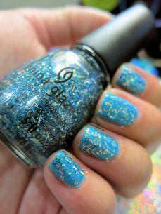 nailpolishlove.me blog mexicano dedicado al nail art, Bells Will Be Blinging, China Glaze, esmaltes, uñas, color azul, Sally Hansen, nail art, nails, nail polish, barnices, Water Color,