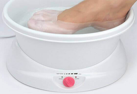 Parafine parafin banyosu