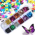Butterfly Nail Glitter Sequins
