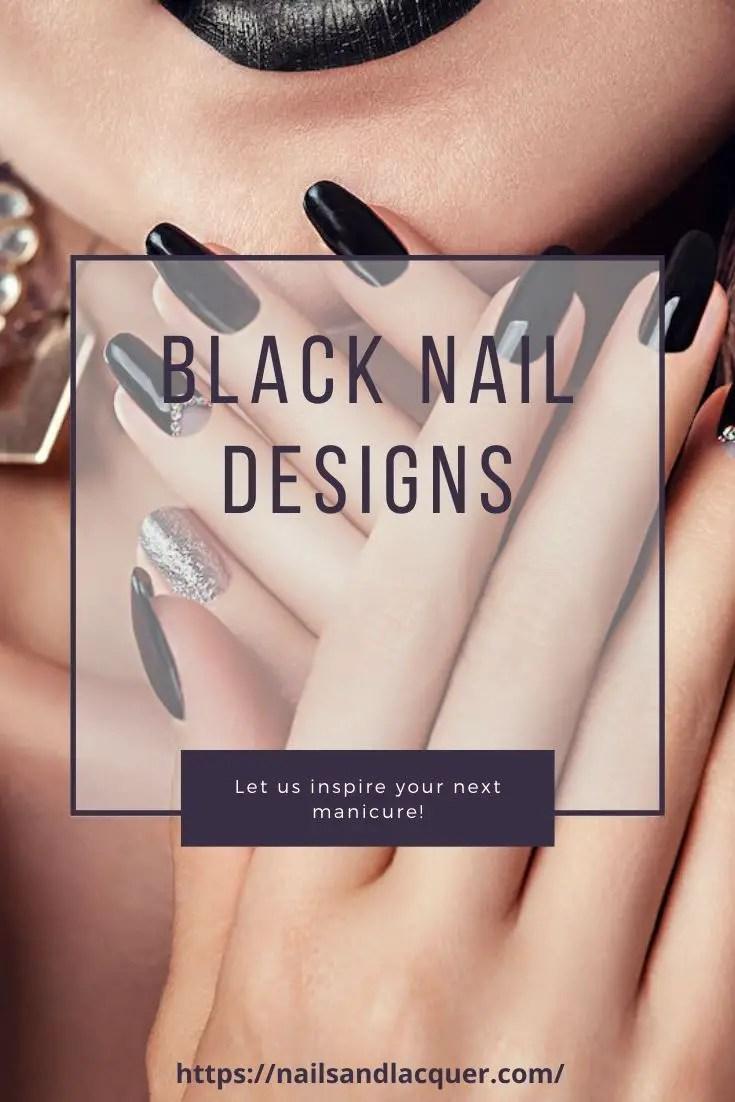 Black nail designs pinterest image
