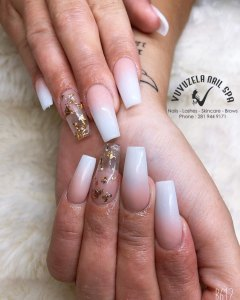 dip manicure with ombre and natural nails colors