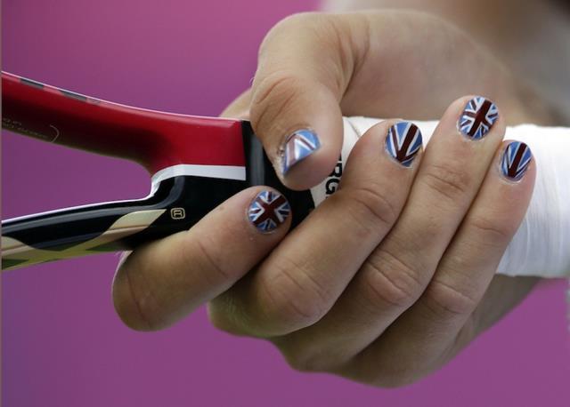 Nail Art con Bandera del Reino Unido en las Olimpiadas de 2016
