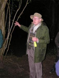 Jeffery Boswall leading one of many dawn chorus walks. Taken in July 2005