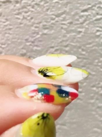 ジェルネイルの厚い爪