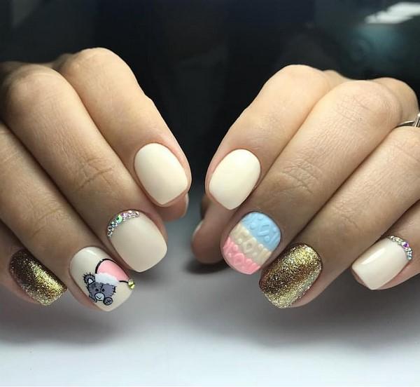 новогодний дизайн ногтей фото новинки 2019 зима фото 2