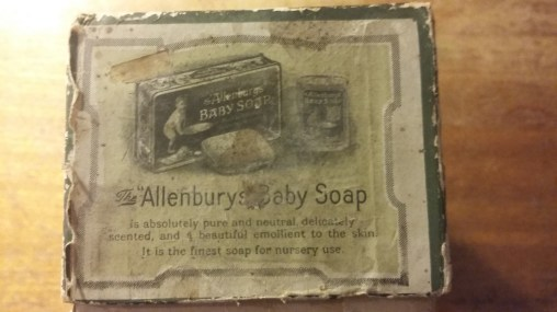 Allenburys Baby Soap, as advertised on the box of the Allenburys Feeder