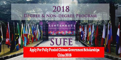 Image result for China Fully Funded SUFE Chinese University Postgraduate Scholarship 2018